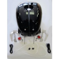 Enduro panniers, incl. attachments and accessories - painted black, R50 - R69S