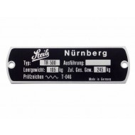 Vehicle identification plate SteibTR500